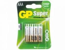 <b>Батарея GP</b> Super Alkaline <b>24A LR03</b>, <b>4</b> шт. AAA