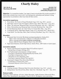 doc journalism resume examples template com samples resume for live