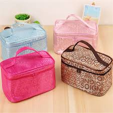 <b>Fashion Letter</b> Makeup Bag Multifunction Lady <b>Square</b> Travel Tote ...