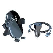 Atomi <b>QI</b> Wireless <b>Car</b> Charger <b>10W Fast</b> Charge Phone Mount