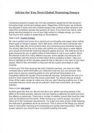 short essay on global warming use this sample when making short essays on global warming