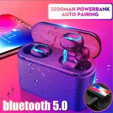 <b>bluetooth 5.0 Headset TWS</b> Wireless Earphones Twins Earbuds 5D ...