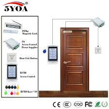 <b>RFID Access Control</b> System Kit Wooden Glasses <b>Door</b> Set+Eletric ...