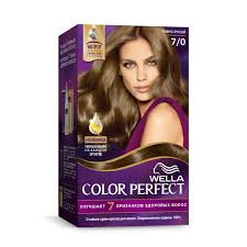 Купить <b>Краска</b>-<b>крем д/волос WELLA</b> Color Perfect 7/0 Темно ...