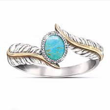 <b>New Vintage Bohemian Ethnic</b> Big Blue Stone Finger Ring For ...