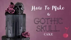 <b>Gothic Skull</b> Drip Cake Tutorial | How To | <b>Halloween</b> | Cherry School
