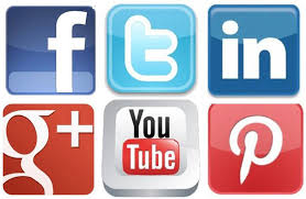 Image result for facebook twitter linked in social media icons