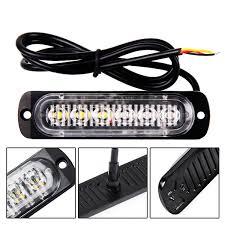<b>1pc 12</b> / <b>24V</b> 6-LED <b>Car</b> Truck Avvertenza di emergenza LED Strobe ...