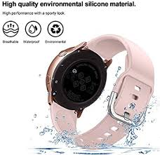 Compatible for Galaxy Watch Active Strap, <b>20mm Silicone</b> ...