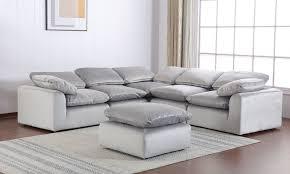 Velvet Modular 5-Piece Sectional Grey - Haynes Furniture