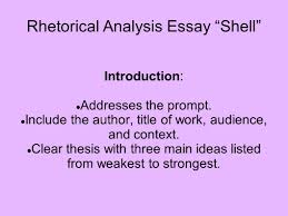 rhetorical analysis essay shell these are the basics you will rhetorical analysis essay shell introduction addresses the prompt