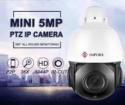 IMPORX Super HD <b>2MP 5MP</b> H.265 POE PTZ <b>IP</b> Camera Outdoor ...