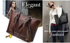 <b>Women Vintage</b> Tote Bag, OURBAG <b>Ladies PU Leather</b> Tote