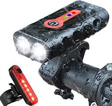 Bright 1200 Lumen USB LED Bike <b>Bicycle Headlight Taillight</b> Front ...