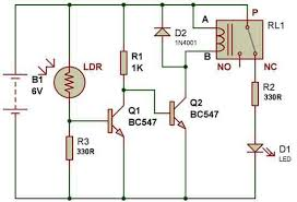 how to use a relay build circuit dark sensor 2