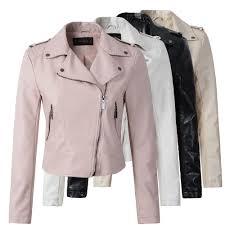 Brand Motorcycle PU Leather Jacket <b>Women</b> Winter And <b>Autumn</b> ...