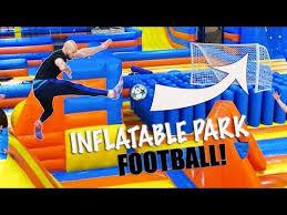 <b>INFLATABLE FOOTBALL</b> BATTLE! - YouTube