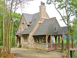 ideas about Mountain House Plans on Pinterest   Mountain    Stone cottage in the mountains of North Carolina via Cote de Texas blog