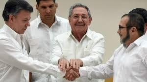 Resultado de imagen de Firma Paz FARC en Cuba