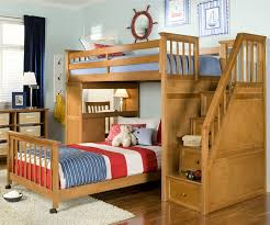 ne kids school house stair loft bunk bed in pecan finish model 4090 staircase loft bunk childrens bunk bed desk full