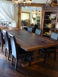 chair dining room tables rustic chairs: rustic dining table long big table wood simple black chair classic pendant lamp open book shelves white sheer curtain