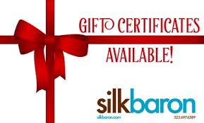 Silk Baron e-Gift Certificate