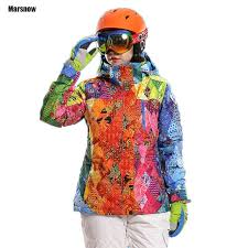 <b>Ski</b> suit for women thicken <b>waterproof windproof breathable</b> outdoor ...