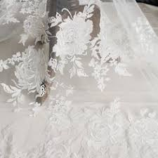 <b>3 Yards Exquisite French</b> Alencon Lace Fabric Trim for Wedding ...