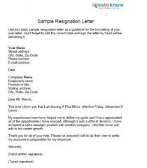 sample resignation lettersformatting a resignation letter