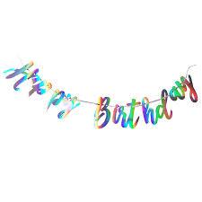Праздничная <b>гирлянда Happy birthday</b> голография 200см. Цена ...