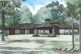 House Plan       Bdrm    Sq Ft Modern Home         middot  Front Elevation of this Modern House        at The Plan Collection