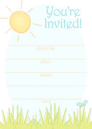 printable birthday invitations templates bronvite sunny day invitation templates