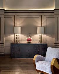 wall treatment interior design chobham stephen clasper interiors combined w recessed lighting and lamps for art deco effect art deco office contemporary