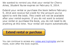 com housekeeping as the expiration date approaches amazon sends a helpful email reminding you to extend the rental period you can also purchase the book and your rental
