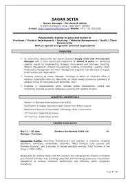 sample resume for purchasing manager   zibsi red hot resumecv senior manager purchase admin