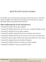 topfileclerkresumesamples conversion gate thumbnail jpg cb