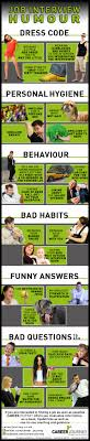 job interview tips and humour infographic