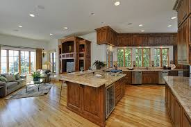 open kitchen design farmhouse:  kitchen stunning floor plans great room kitchen combo trend home design and decor picture of