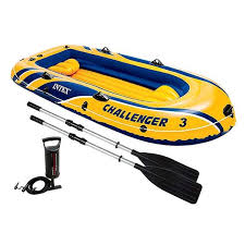 <b>Лодка Intex Challenger 3</b> Set 2,95 x 1,48 м blue/yellow купить ...
