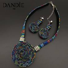 Online Shop Dandie <b>Stylish</b> ethnic style cloth <b>rope</b> necklace with a ...