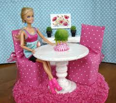 barbie table and dining room set barbie furniture ideas