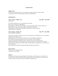 simple bookkeeper resume format sample objective and skills fullsize by barry glen simple bookkeeper resume format sample