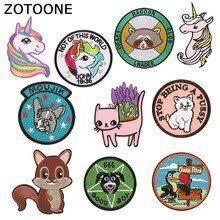 <b>ZOTOONE Cartoon</b> Animals Patches on Clothes <b>Unicorn</b> Patch ...