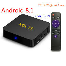 <b>Android 9.0 TV</b> Box MX10 4GB/32GB RK3328 Quad Core 2.4G WiFi ...