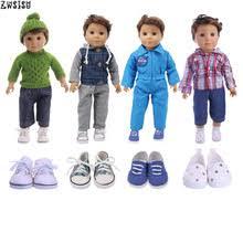 Кукольная одежда, 4 стиля, 2 шт. + пальто/свитер + <b>джинсы</b> ...