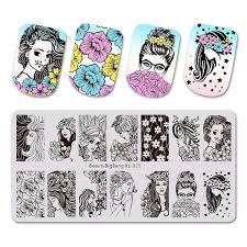 <b>BeautyBigBang Stamping Plates Beautiful</b> Girl Flower Beauty Lady ...