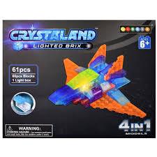 """Купить <b>конструктор</b> Crystaland Lighted <b>Brix</b> """"<b>Самолет и</b> робот"""" 4 в ..."""