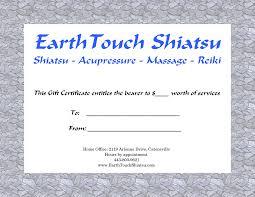 earthtouch shiatsu buy a gift certificate gift certificates