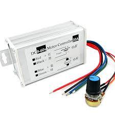 PWM <b>DC motor</b> stepless <b>speed</b> controller <b>12V 24V</b> 60V MAX 20A ...