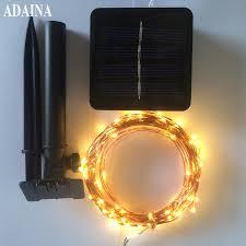 Garden <b>Led Solar</b> Copper Wire String Light <b>10M 100 LED Outdoor</b> ...